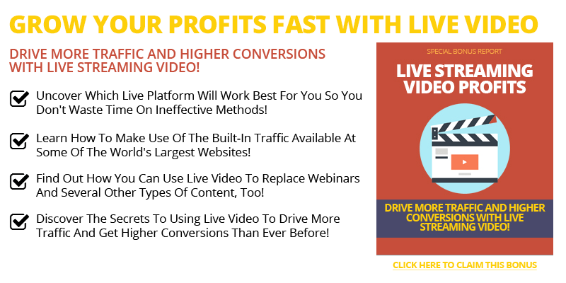 Live Streaming Videos Profits