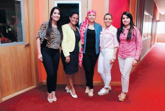 Testimonio. Anabell Alberto, Jaysi Moreta, Juliana O'neal, Jennfier Quiroz y Mariel Alberto.