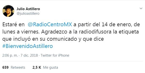 Tuit Julio Astillero