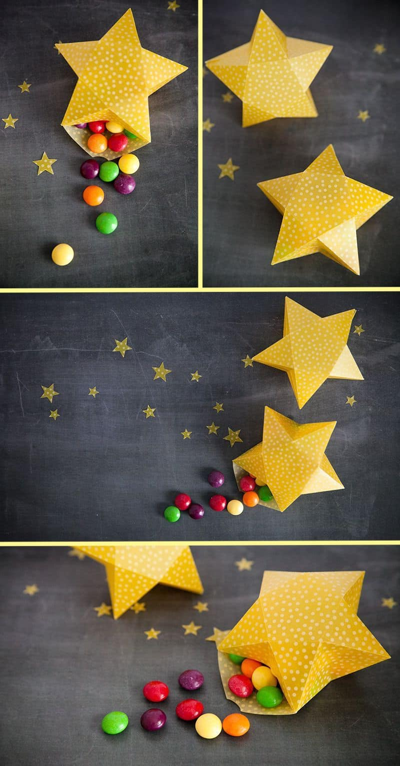 Sweet paper star gift