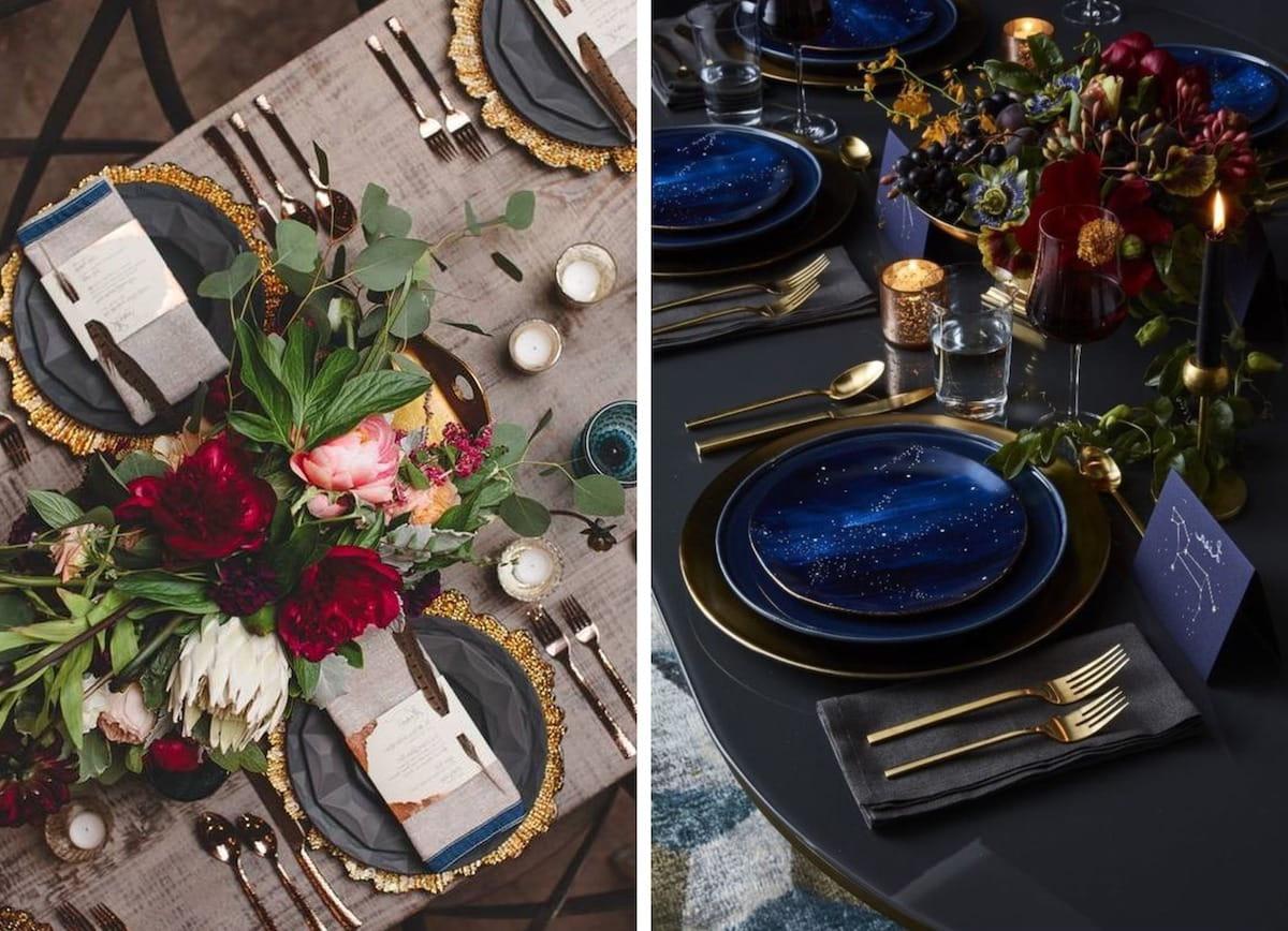 Az asztalon elrendezett dekorelemeknek jól kell harmonizálniuk egymással
