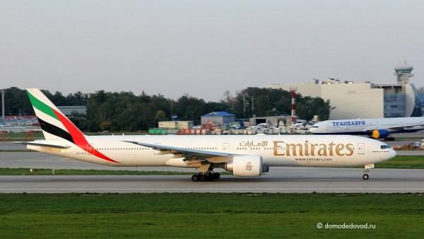 Самолет авиакомпании Emirates