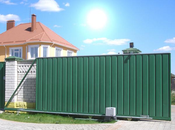 Откатные ворота - причины популярности и кое-что о конструкции