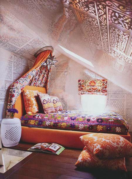 Бохо спальни интерьер