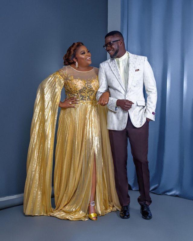 """I was afraid to love you but now, I'm afraid to lose you""- JJC Skillz gushes over his wife, Funke Akindele (Video)"
