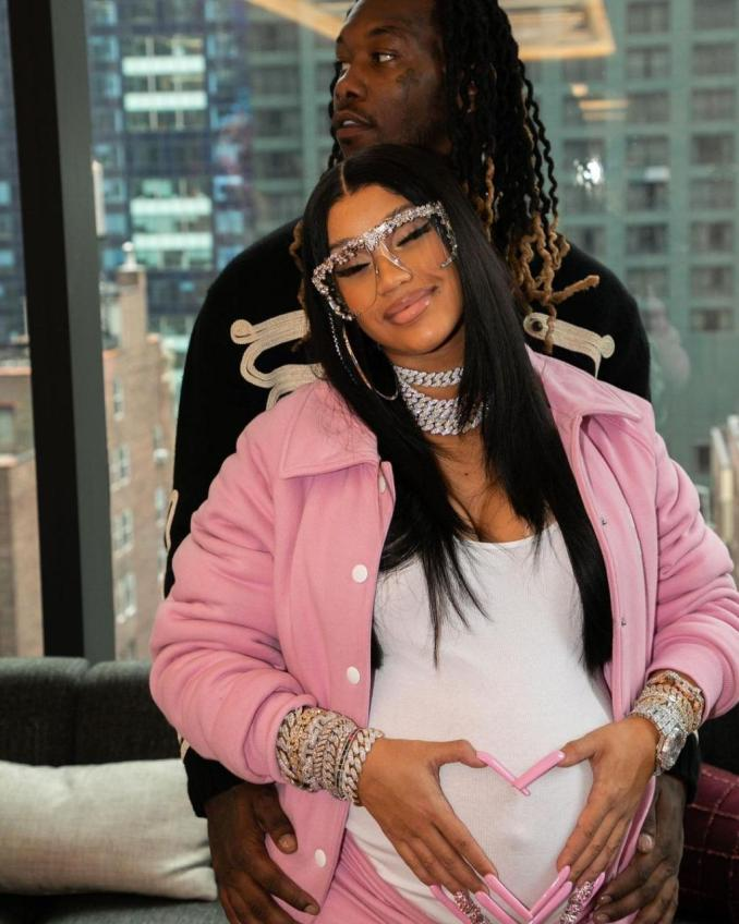 Rapper Cardi B and husband, Offset welcome baby