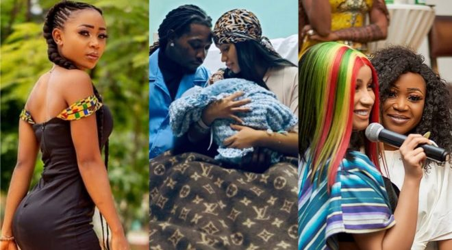 Akuapem Poloo Reacts Swiftly Minutes After Her Twinny, Cardi B Welcomed Her Second Child