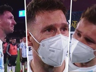 Lionel Messi cries tears of joy after surpassing Pele to become highest scoring South American male footballer (photo Video)