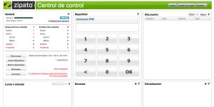 Zipabox panel de control general