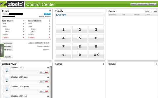 Zipabox Control Center