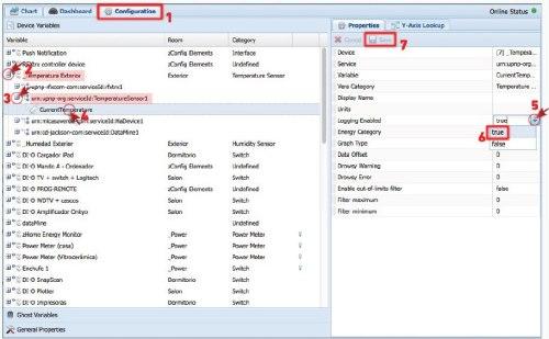 Configuración propiedades Datamine