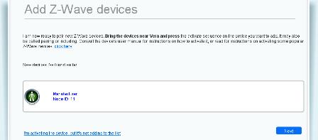 Pantalla UI5 donde Vera ha detectado el nuevo dispositivo