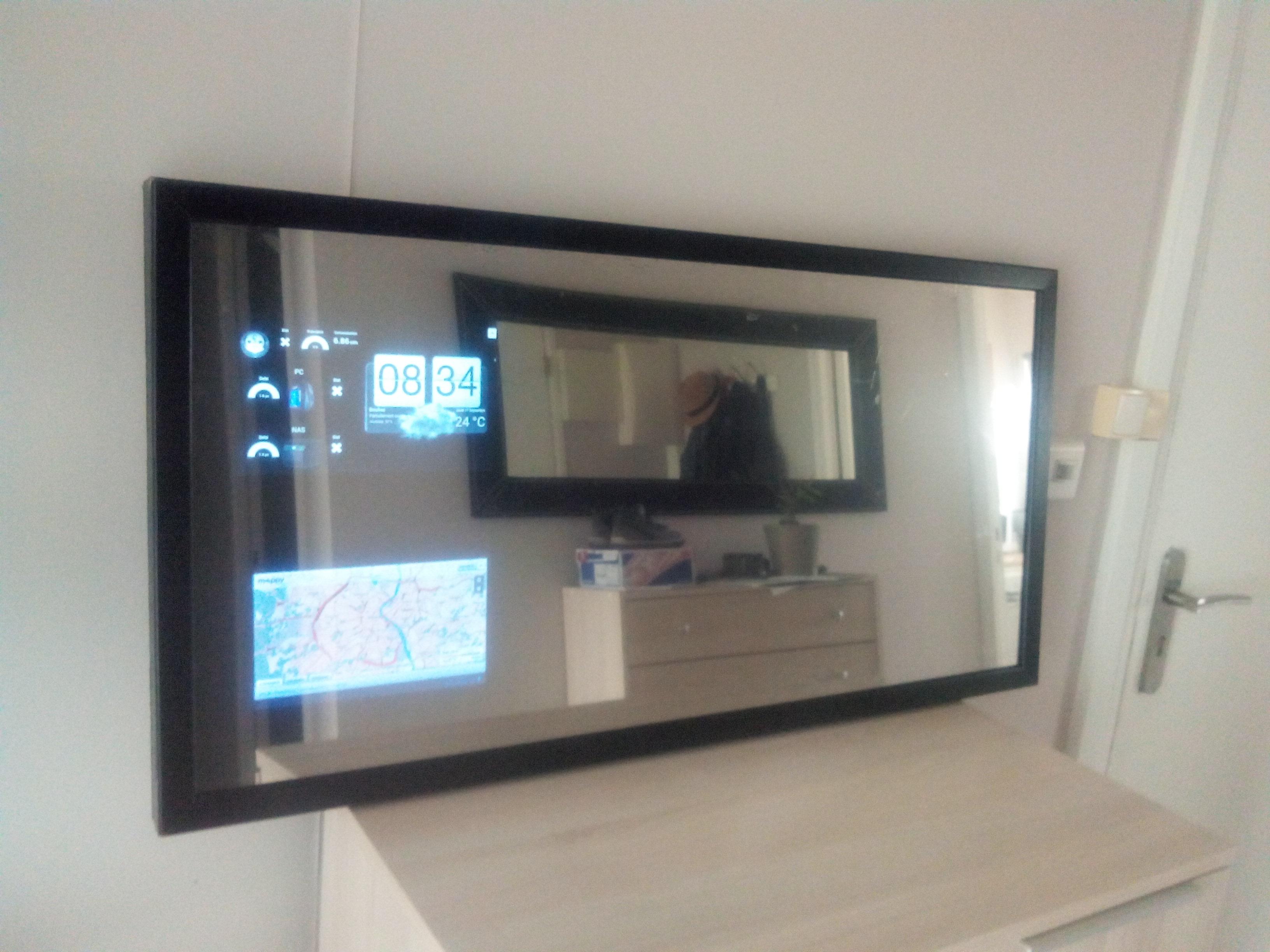 Fabrication Dun Miroir Connecté Domotique Technoseb27