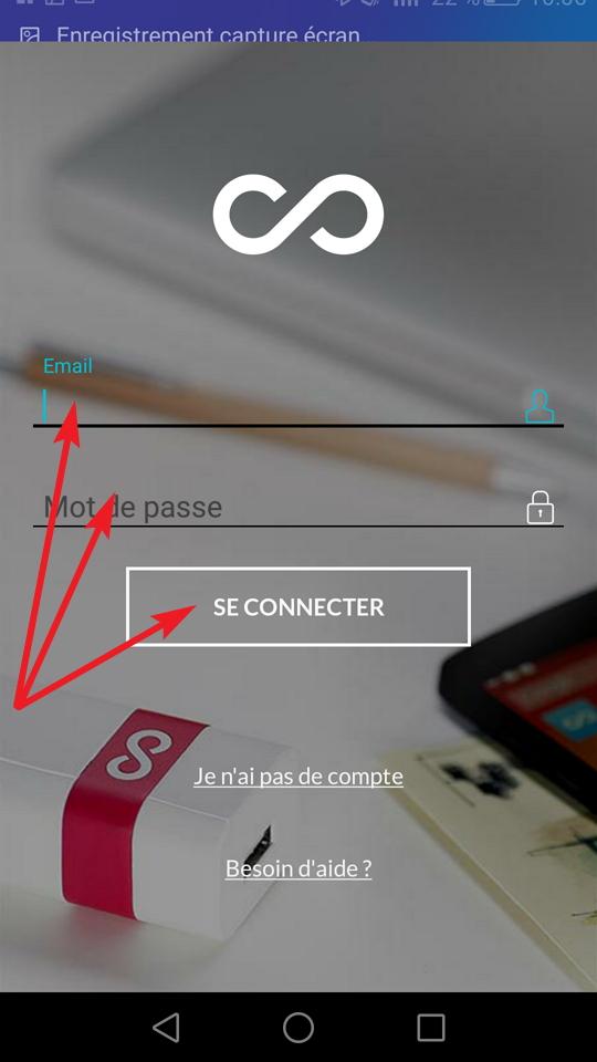 Application E-mail Et Mot De Passe