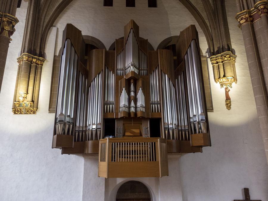 Die Kuhn-Orgel im Mindener Dom steht bei den Orgelkonzerten aus Anlass des 75-jährigen Bestehens des Dombau-Vereins Minden (DVM) im Mittelpunkt. Foto: DVM/Kaus von Kassel