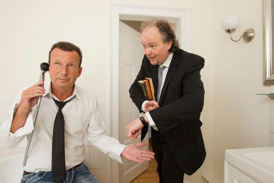 Frank Suchland und Stephan Winkelhake gestalten die musikalische Lesung im Domschatz Minden. Foto: PR