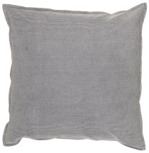 Grey corduroy cushions