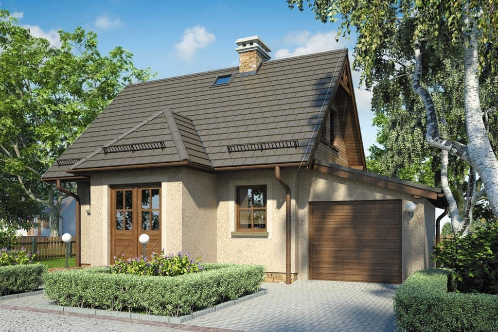 Una casa demasiado voluminosa se verá ridícula en un área pequeña, por lo que la cabaña generalmente construye un pequeño tamaño.