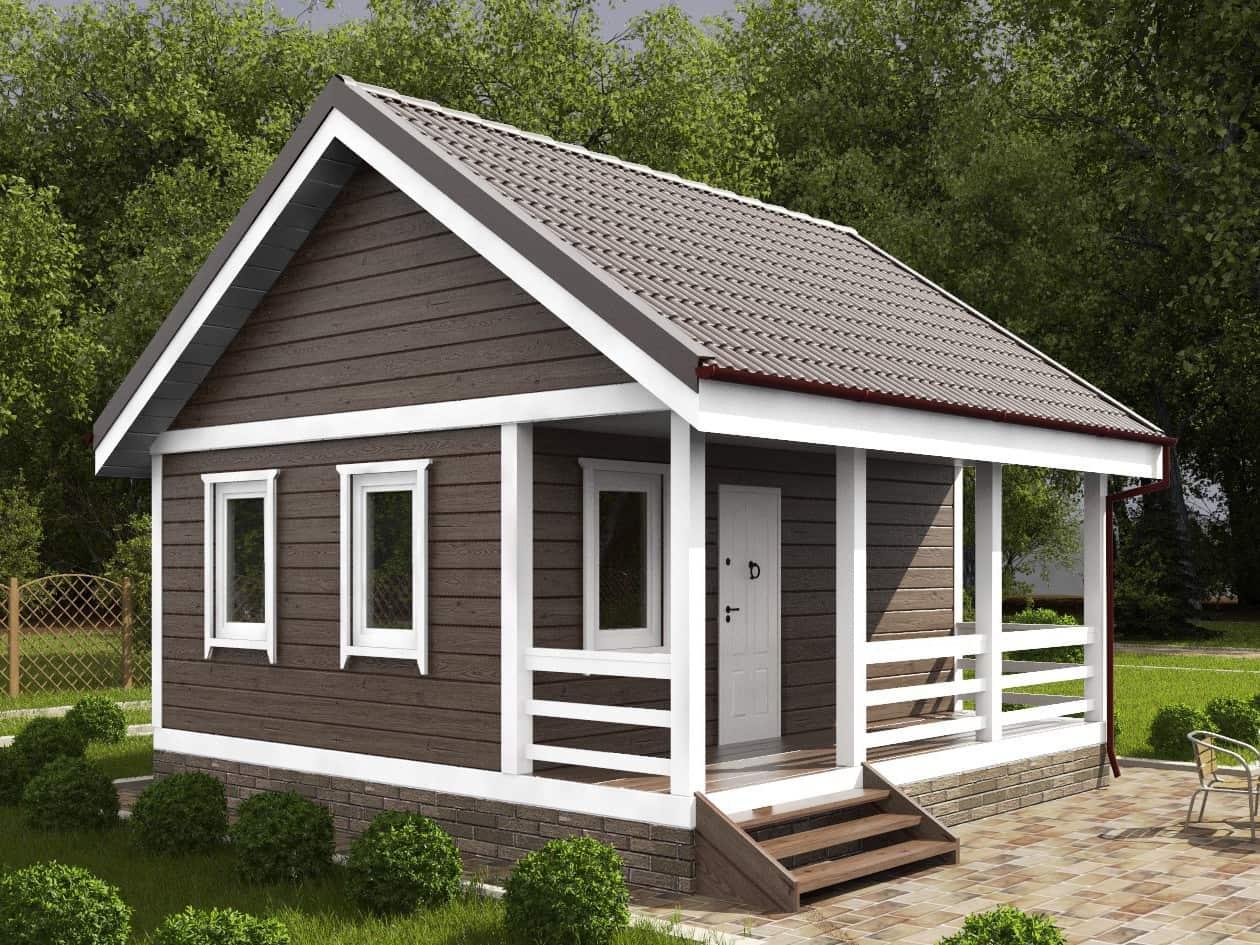 Rumah pedesaan yang indah dalam gaya Skandinavia