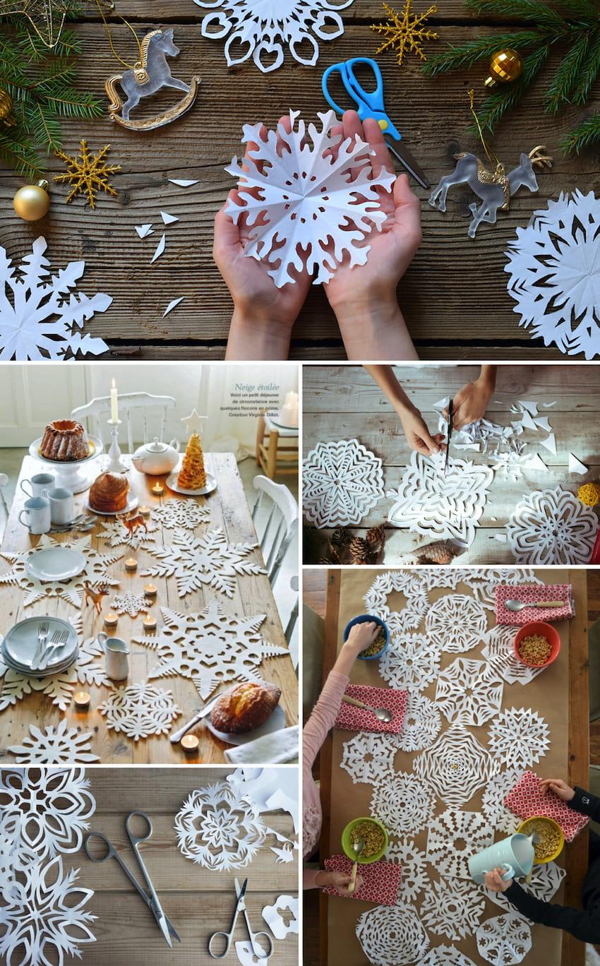 Вырезать снежинки из бумаги умеет каждый, но не все знают, что они могут послужить отличном украшением для стола на новогодний праздник