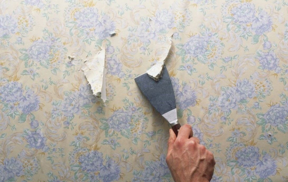 从墙壁上删除壁纸