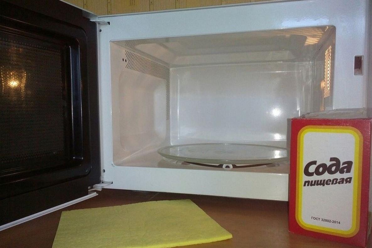 Reinigung von Mikrowellen-Soda