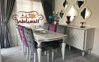 غرف سفرة دمياط 2019 – 2020 مودرن وكلاسيك