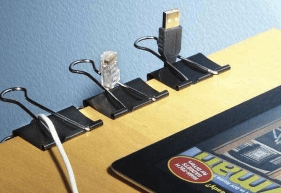 Как закреплять провода на на рабочем месте