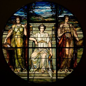 The Arts window by J. & R. Lamb Studios. The 1894 window will make its public debut at the Morse in the upcoming exhibition Revival and Reform—Eclecticism in the 19th-Century Environment