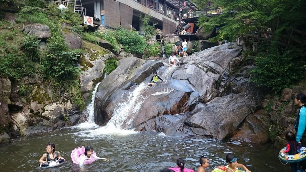 三郎の滝にある一郎の滝と龍王荘