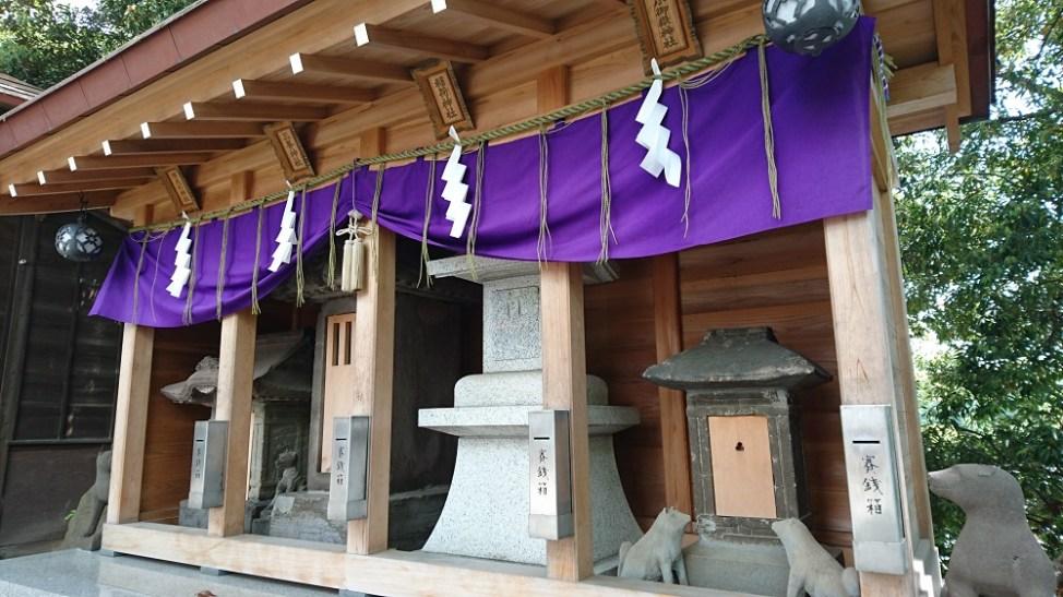 多摩川浅間神社の境内社、小御岳神社、稲荷神社、三峯神社、阿夫利神社