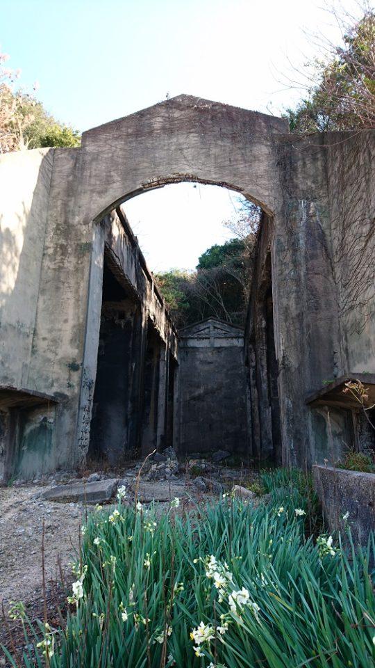 大久野島にある長浦毒ガス貯蔵庫跡
