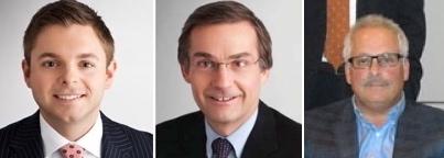 Sebastien Kwidzinski & senior partners Gerald Ranking, Lorne Silver