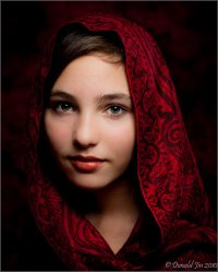 Day 76: A Girl with a Red Scarf | Project 365...plus