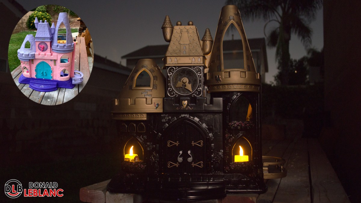 How to make a DIY Haunted/Gothic Castle from an old plastic dollhouse [Halloween 2020]