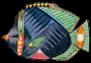 TINY 2 Stripy -5- Round Fish Plus PoissonsecrevisIRena_0151
