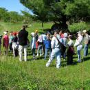 Students learning on the trail.