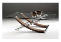 Tusk Glass Coffee Table - Glass and Polish Chrome finish
