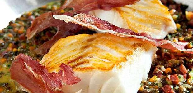 Bacalhau com Batatas e Presunto Parma