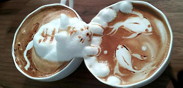 Incrivel escultura 3D de espuma de leite em café pelo barista Kazuki Yamamoto
