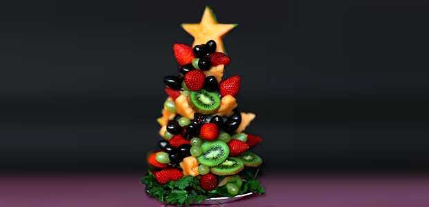 Como Fazer Árvore de Natal de Frutas para Enfeitar a Mesa