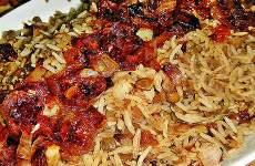 Arroz Natalino com Lentilhas e Cebolas Crocantes