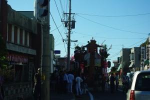 乙部町のお祭り1 山車