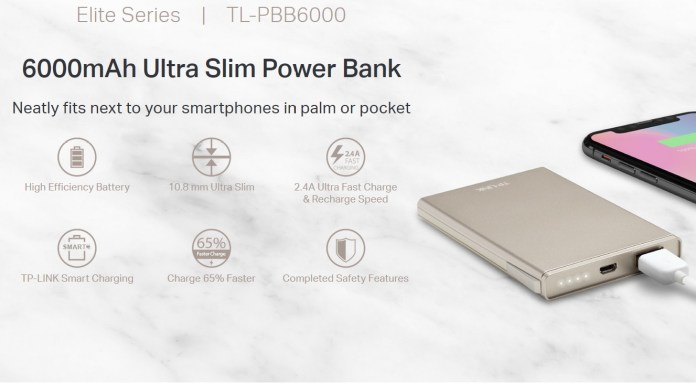 TP-Link Ultra Slim Power Bank 6000mAh (TL-PBB6000)