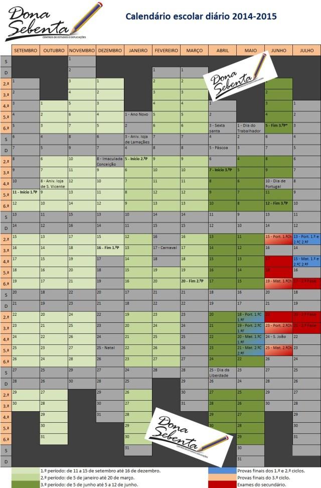 M.INF.04.01 Calendário escolar diário