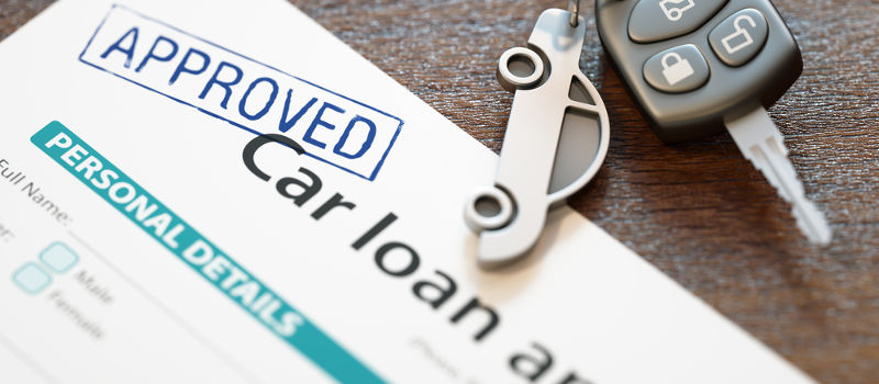 Image of an approved car loan application for someone with a low credit score.