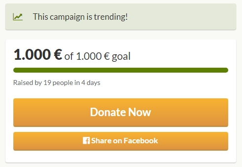 Surprise! Our goal is fully funded