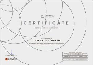 Corona Instructor Donato Locantore