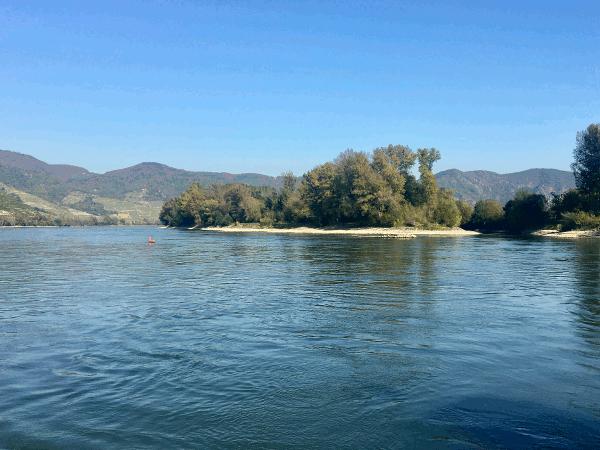 Donau-sykkelsti Passau Wien Donau-øya badestrender