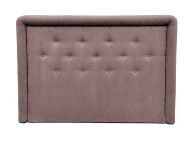 Cabecero de cama tapizado con botones, 170 x 120 cm - Good Night. Marrón